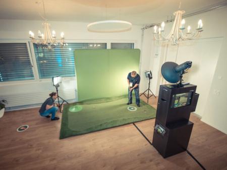 Putting Green mit Fotobox