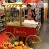 Grosse Popcornmaschine mit Unterwagen